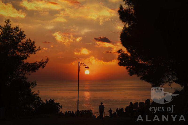 Casual sunset from the castle of Alanya -İnal, Buğra
